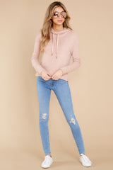 2 Kacey Silver Pink Feather Hoodie at reddress.com