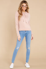 4 Kacey Silver Pink Feather Hoodie at reddress.com