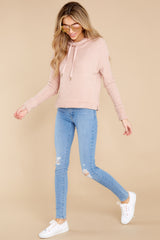6 Kacey Silver Pink Feather Hoodie at reddress.com