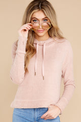 8 Kacey Silver Pink Feather Hoodie at reddress.com