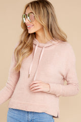 5 Kacey Silver Pink Feather Hoodie at reddress.com