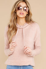 7 Kacey Silver Pink Feather Hoodie at reddress.com