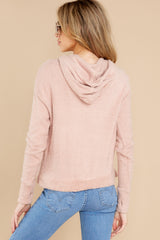 9 Kacey Silver Pink Feather Hoodie at reddress.com