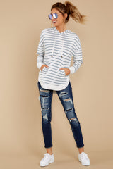 1 The Desert White Sierra Stripe Dakota Pullover at reddressboutique.com