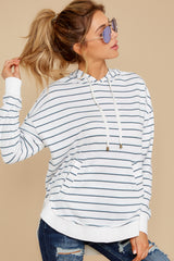 5 The Desert White Sierra Stripe Dakota Pullover at reddressboutique.com