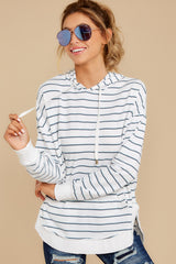 6 The Desert White Sierra Stripe Dakota Pullover at reddressboutique.com