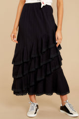 1 Desire To Inspire Black Midi Skirt at reddressboutique.com