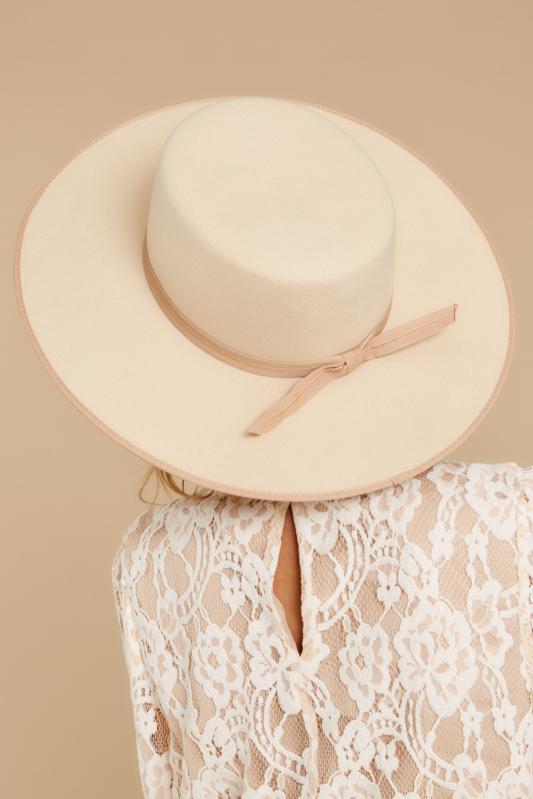 80s Hats, Caps, Visors, Buckets | Women and Men Ivory Rancher Boater Hat Brown $129.00 AT vintagedancer.com