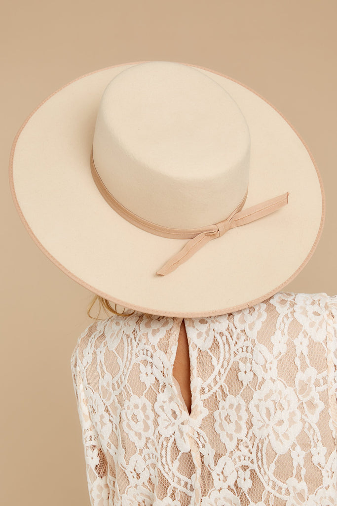 3 Play It Cool Light Taupe Hat at reddressboutique.com