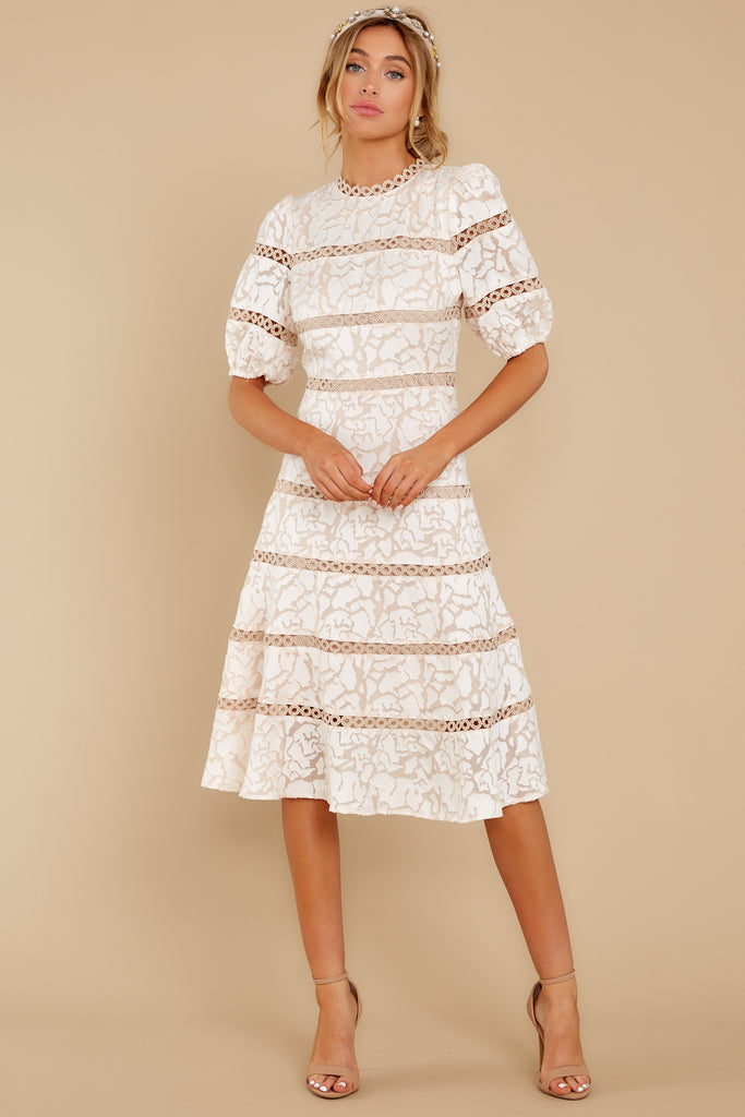 2 Simply Wishing For Ivory Midi Dress at reddressboutique.com