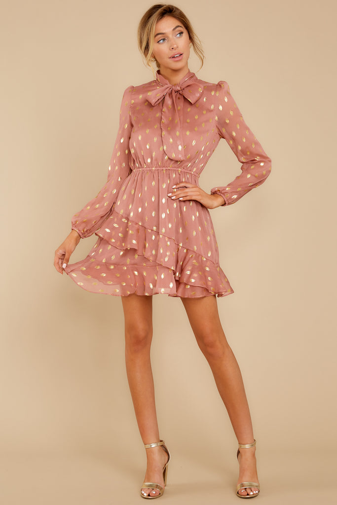 1 Every Single Night Rose Gold Dress at reddressboutique.com