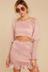 4 Caught You Looking Blush Pink Two Piece Set at reddressboutique.com