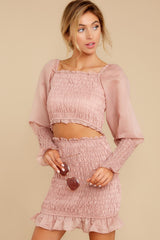 5 Caught You Looking Blush Pink Two Piece Set at reddressboutique.com