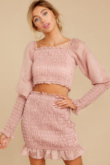 7 Caught You Looking Blush Pink Two Piece Set at reddressboutique.com