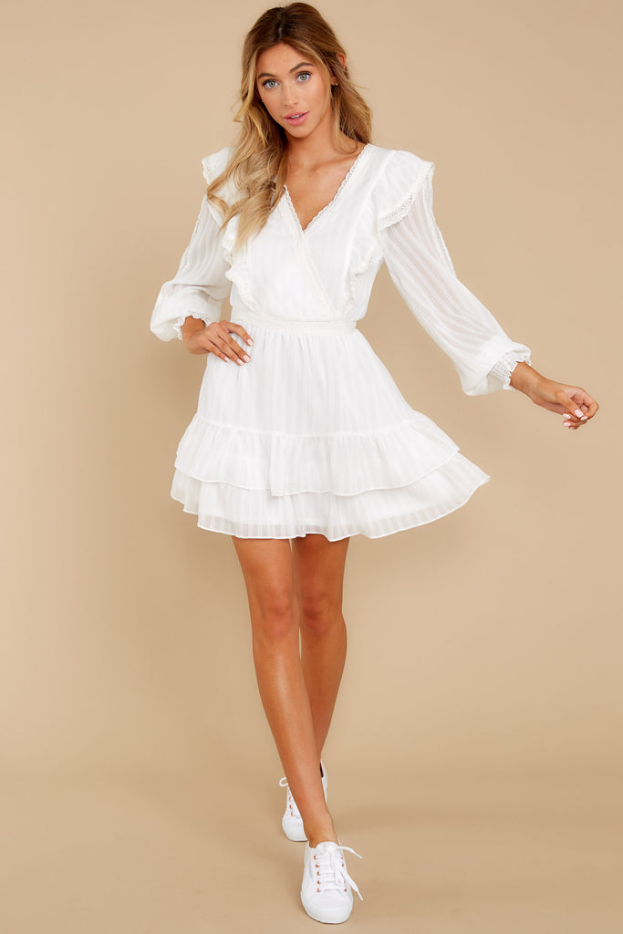 3 Nothing More Nothing Less White Dress at reddressboutique.com