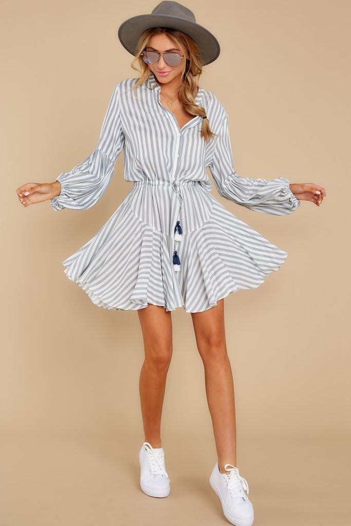 2 Sweetest Delight Light Chambray Button Up Dress at reddressboutique.com