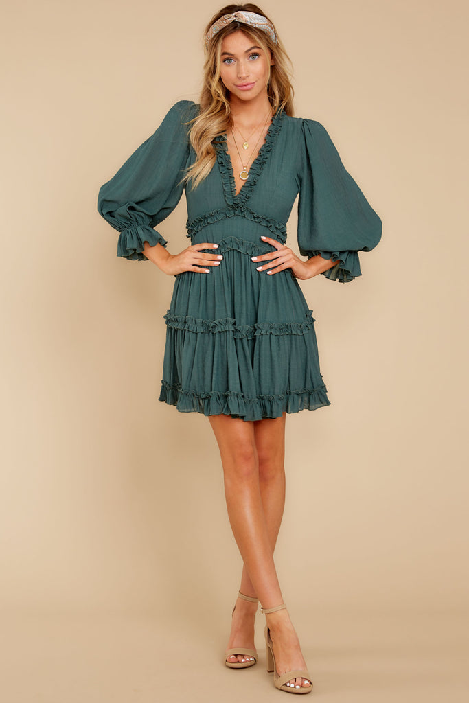 1 Artist Mode Jade Green Dress at reddressboutique.com