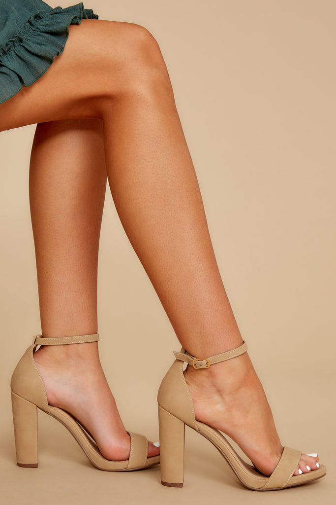 1 Never Grow Up Tan Ankle Strap Heels at reddress.com