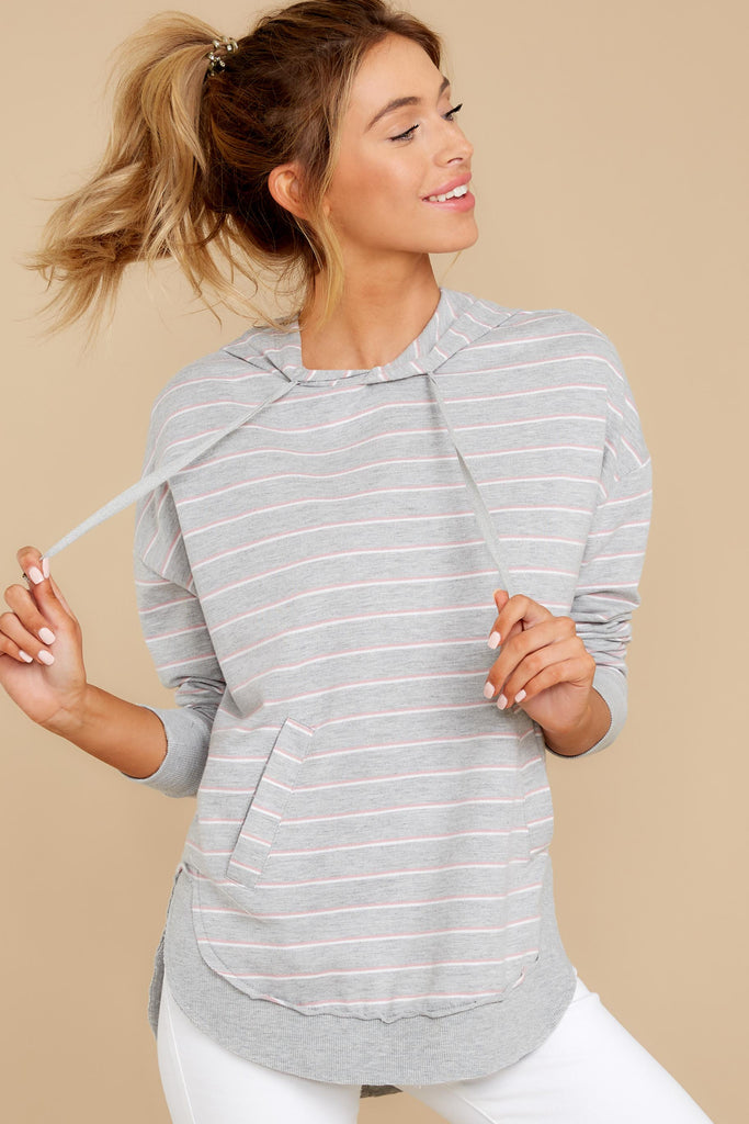 1 The Heather Grey Premium Fleece Flare Sleeve Pullover at reddressboutique.com