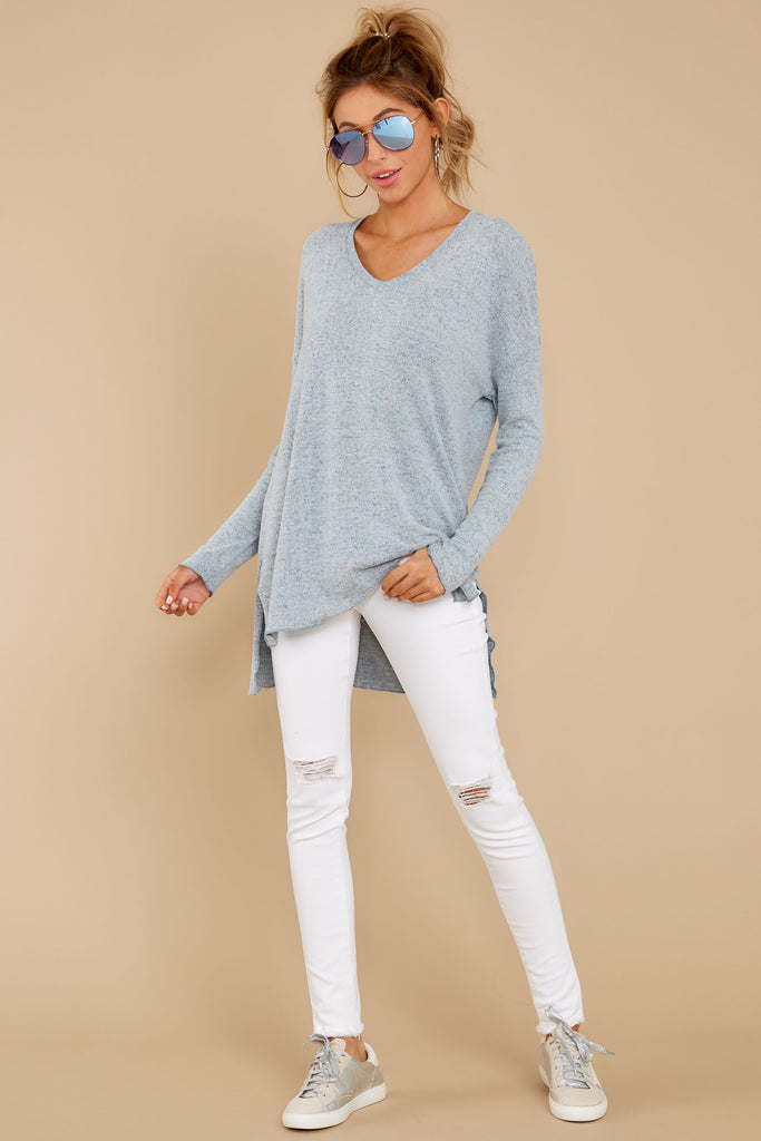 1 Wind Down Sky Blue Sweater at reddressboutique.com