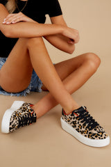 4 Race You There Leopard Print Sneakers at reddressboutique.com