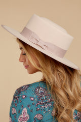 Play It Cool Blush Hat at reddressboutique.com