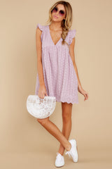 1 Keep A Secret Lavender Romper Dress at reddressboutique.com