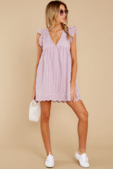 2 Keep A Secret Lavender Romper Dress at reddressboutique.com