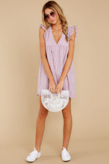 3 Keep A Secret Lavender Romper Dress at reddressboutique.com