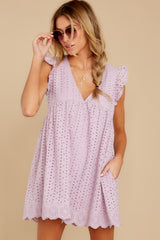 5 Keep A Secret Lavender Romper Dress at reddressboutique.com