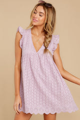 6 Keep A Secret Lavender Romper Dress at reddressboutique.com