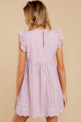 8 Keep A Secret Lavender Romper Dress at reddressboutique.com