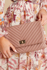 1 In Line With Style Mauve Clutch at reddressboutique.com