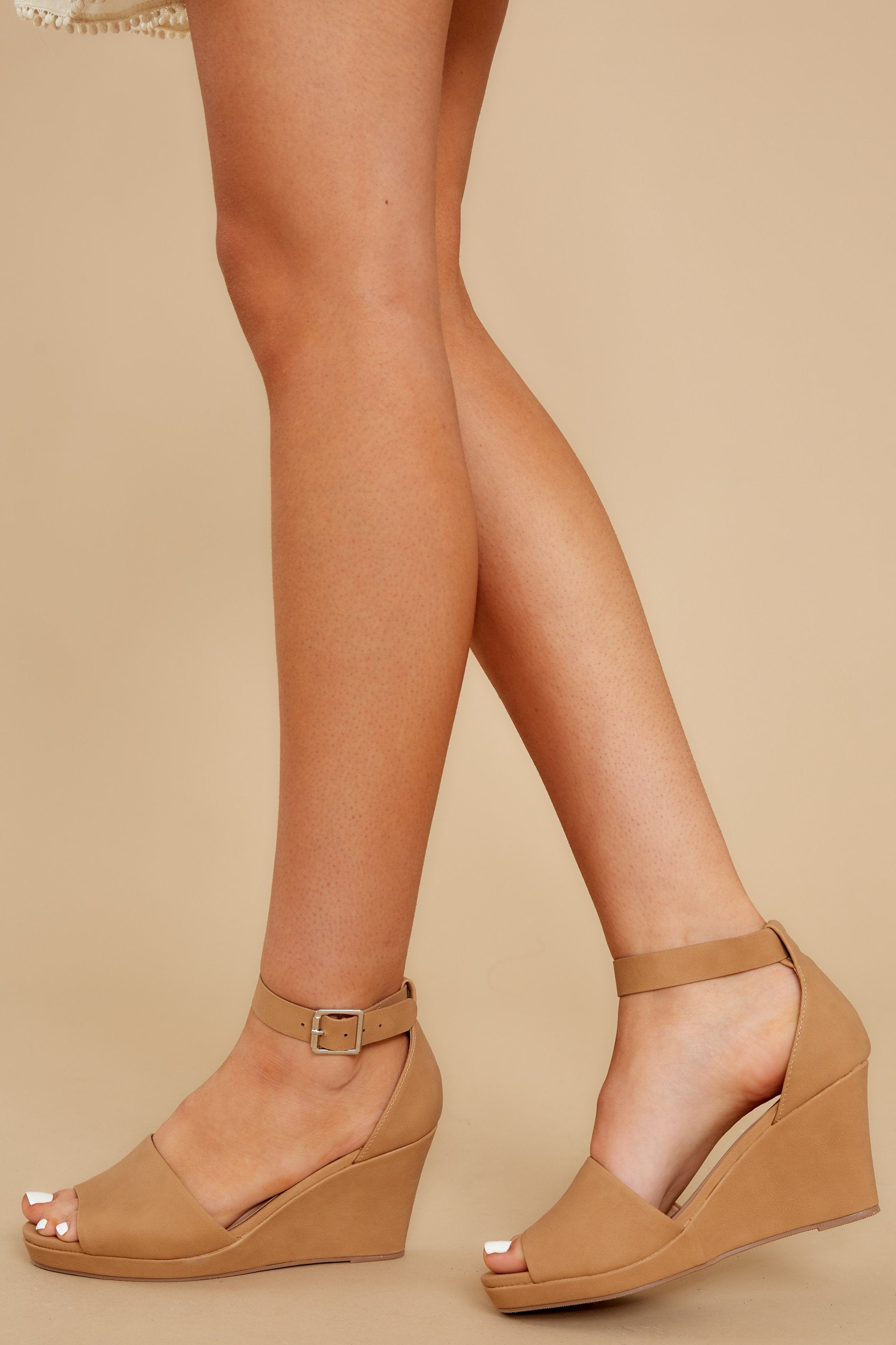 pretty cool look out for promo codes Cute Beige Sandal Wedges - Vegan Leather Platform Wedges - Shoes ...
