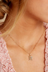 35 R Block Initial Necklace at reddressboutique.com