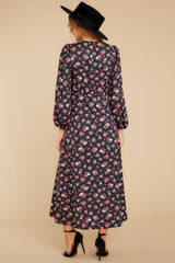 8 Who Is She Black Floral Print Dress at reddressboutique.com