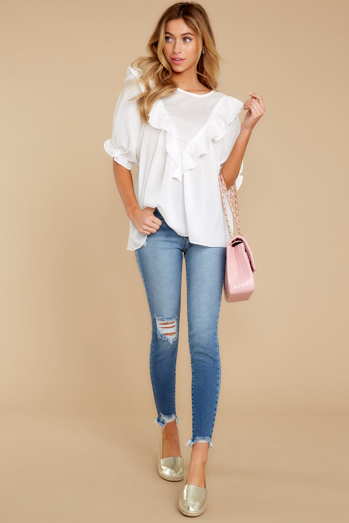 1 Love On You White Top at reddress.com