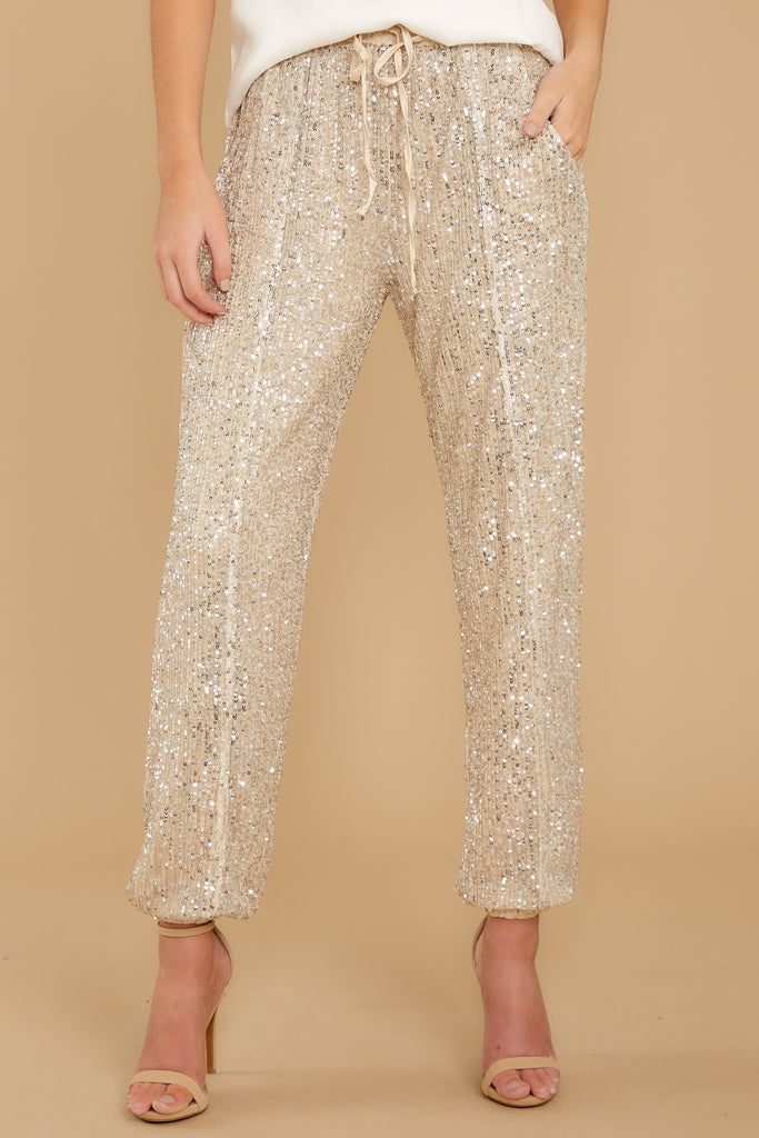 1 Go Glam Champagne Pants at reddress.com