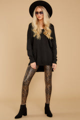 6 Faux Leather Leopard Leggings at reddressboutique.com