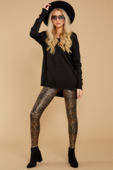 7 Faux Leather Leopard Leggings at reddressboutique.com