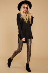 8 Faux Leather Leopard Leggings at reddressboutique.com
