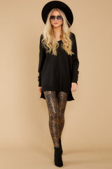 5 Faux Leather Leopard Leggings at reddressboutique.com