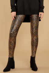 1 Faux Leather Leopard Leggings at reddressboutique.com