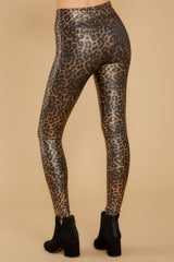 4 Faux Leather Leopard Leggings at reddressboutique.com
