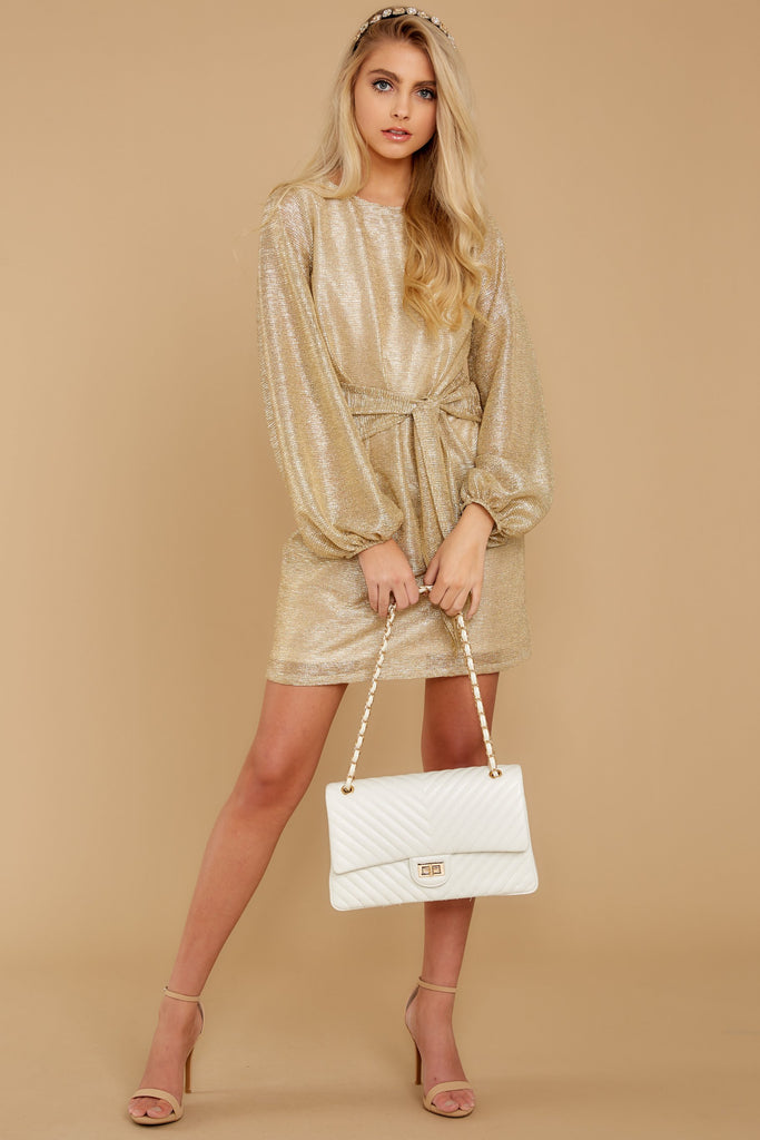 5 Pardon Me Gold Dress at reddressboutique.com