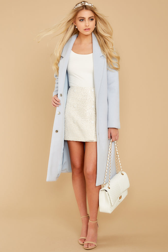 1 I Know Places Light Grey Tweed Coat at reddressboutique.com
