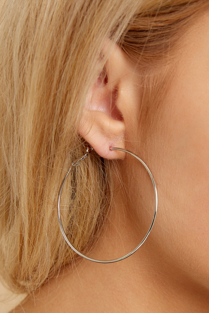 1 Blaze Gold Hoop Earrings at reddressboutique.com