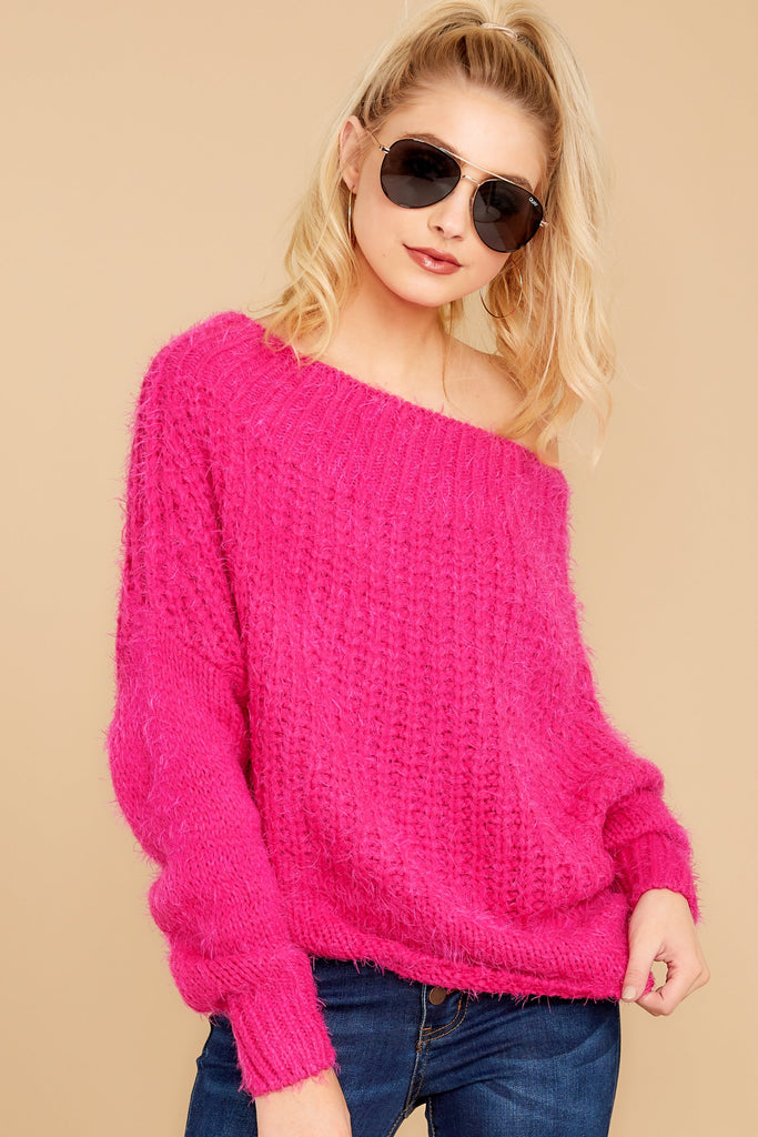 1 You've Got Me Pink Multi Sweater at reddressboutique.com