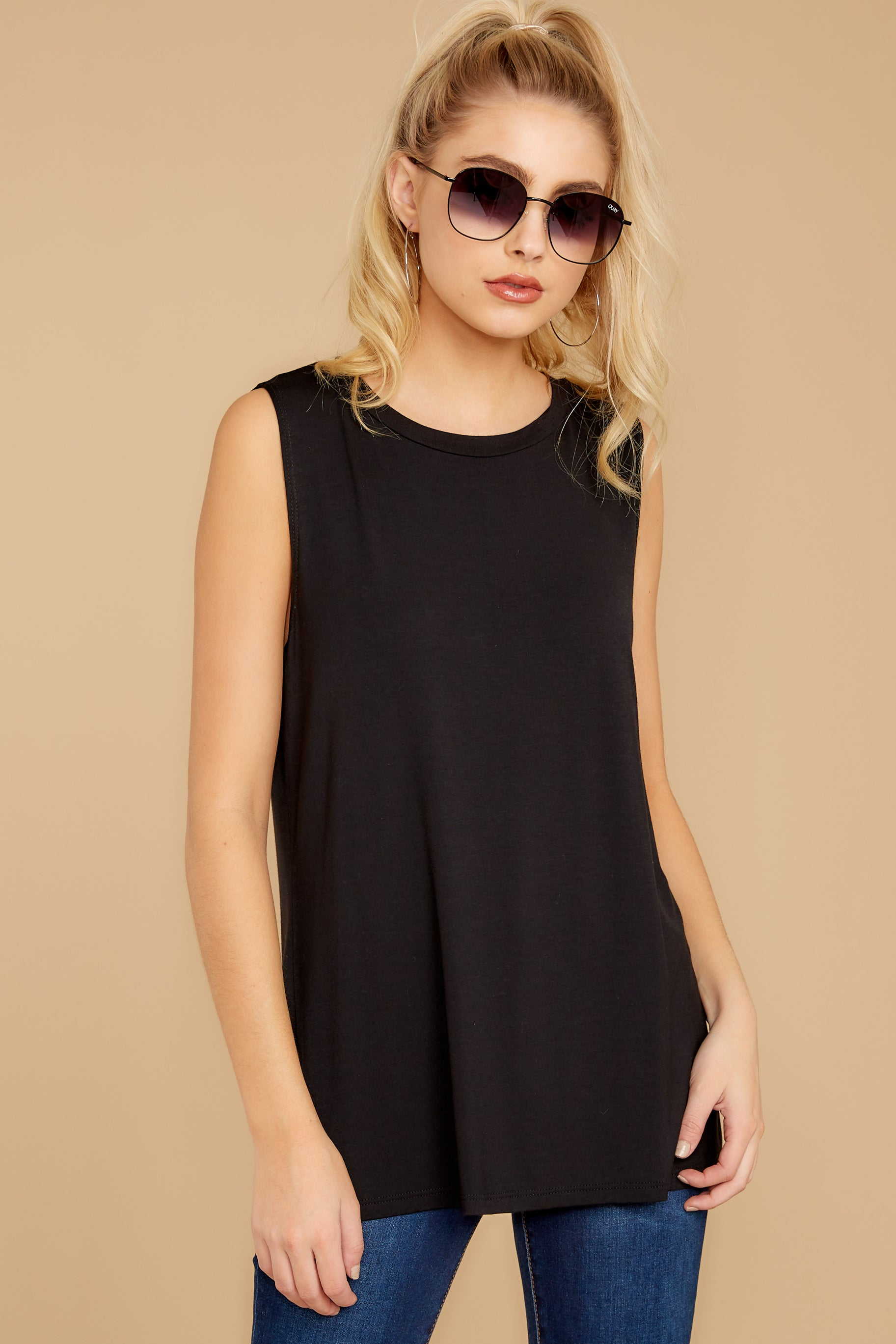 1 To Say The Least Black Top at reddressboutique.com