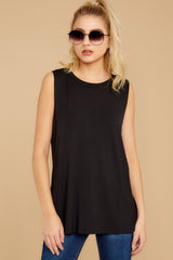 3 To Say The Least Black Top at reddressboutique.com